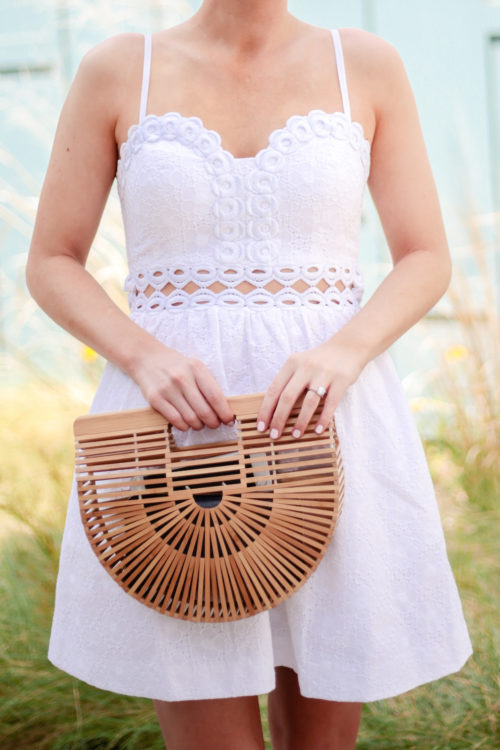 lilly pulitzer rika dress and cult gaia ark bag on design darling charleston bachelorette party