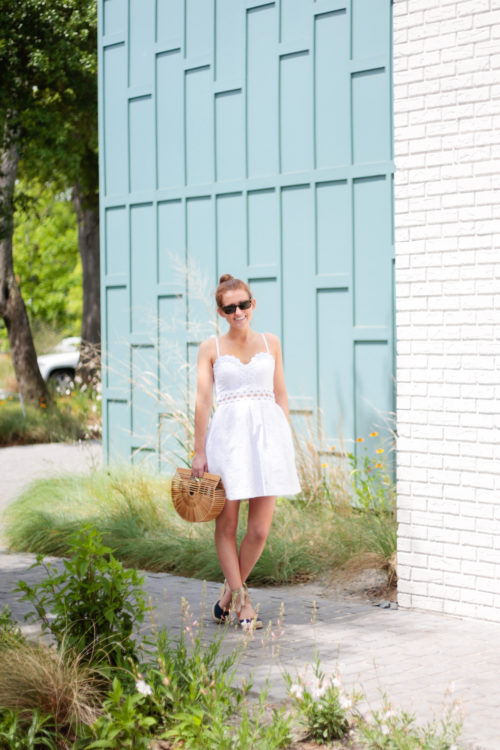 lilly pulitzer rika fit and flare dress in white