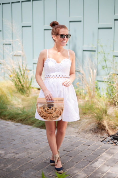 lilly rika dress in white
