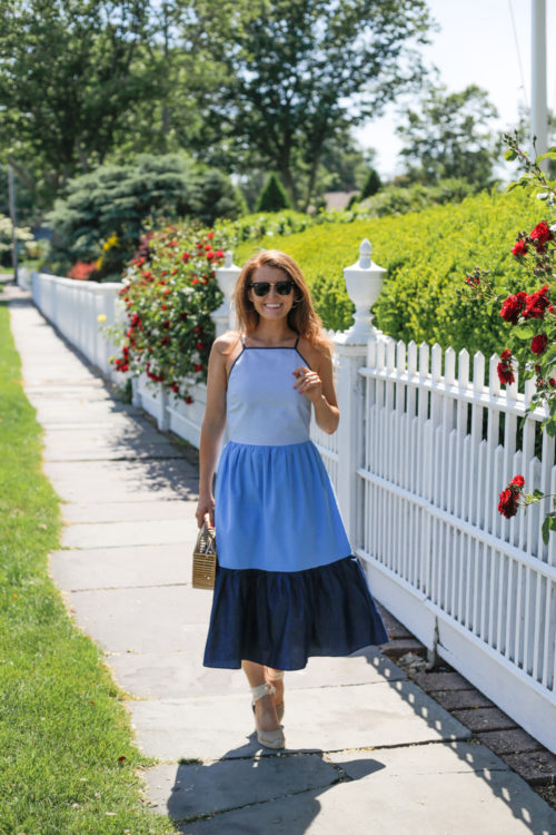 chambray maxi dress design darling