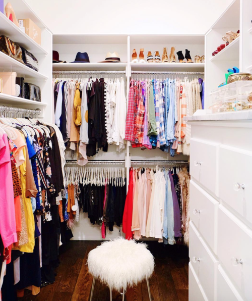 colorful organized closet the home edit