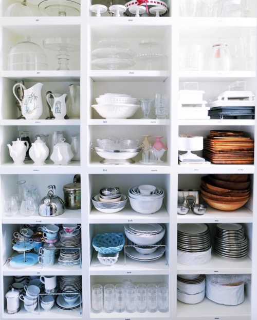 organized entertaining closet the home edit