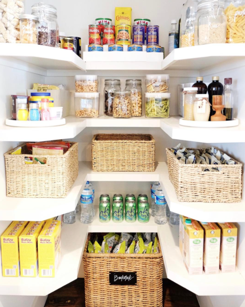 organized pantry shelves the home edit