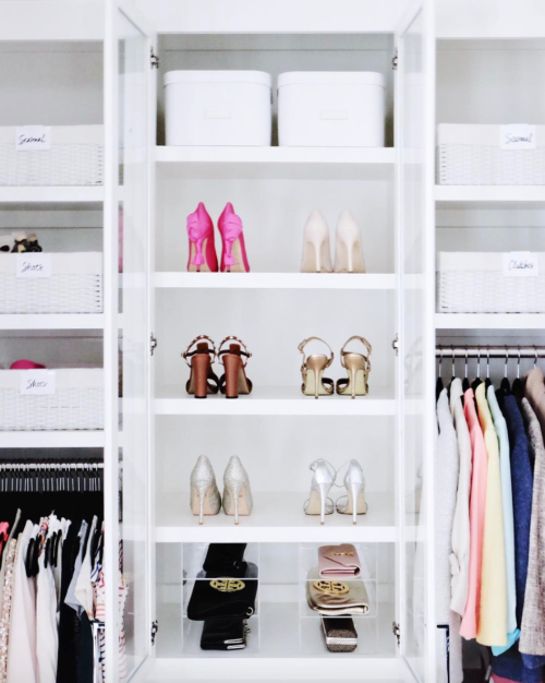 organized shoe closet the home edit