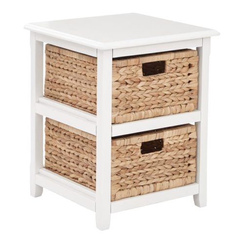 white end tables with basket drawers on overstock