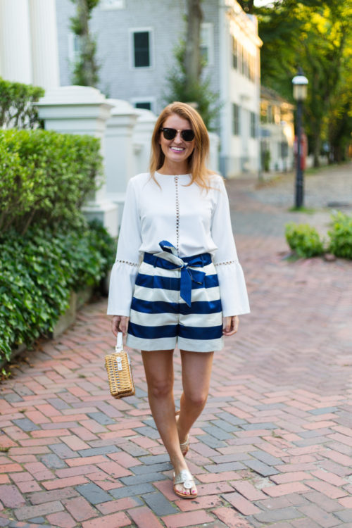 j.crew striped satin shorts on design darling