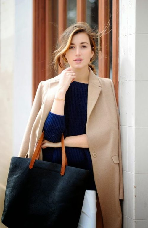 camel coat on design darling