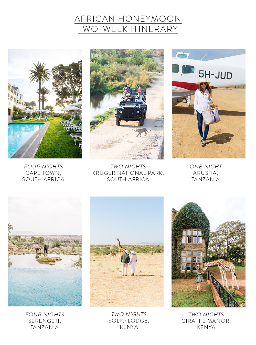 design darling african honeymoon itinerary