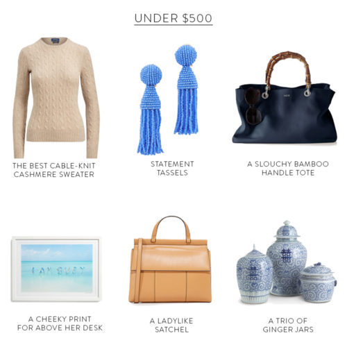 gifts for her under  250   500   750  and  1000