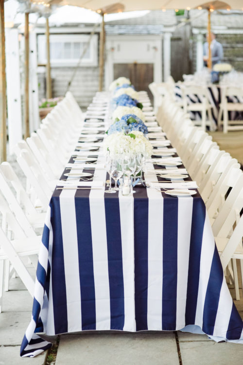 design darling navy and white stripe tablecloths