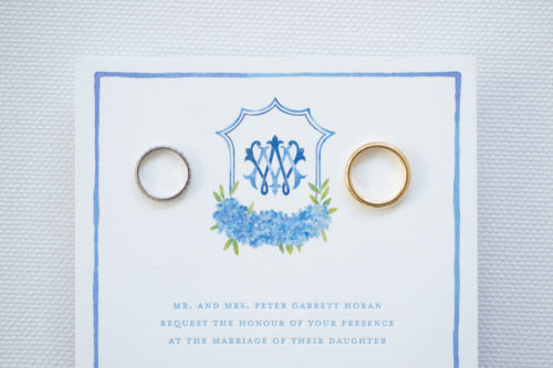 design darling wedding invitations with wedding bands