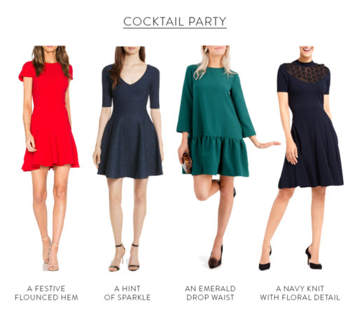 holiday cocktail party dresses