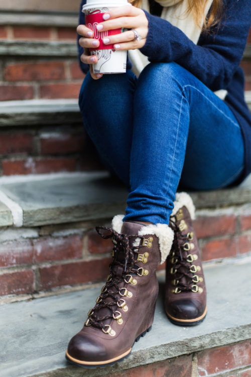 sorel conquest boots on design darling