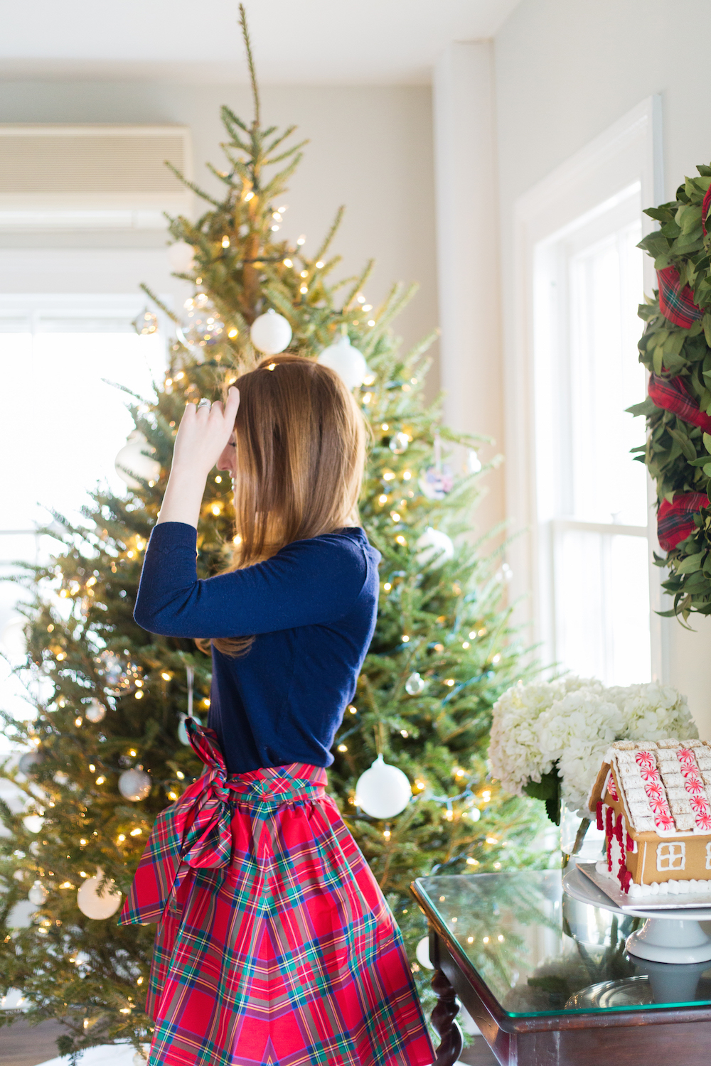 vineyard vines red plaid taffeta party skirt