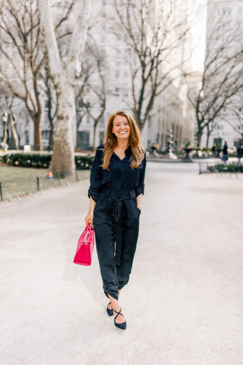 design darling navy jumpsuit by milly