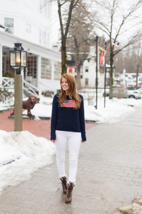 polo ralph lauren flag cotton crewneck sweater on design darling