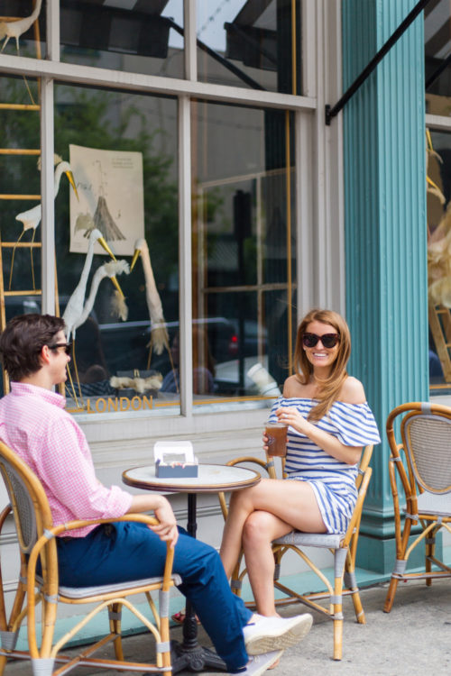 design darling striped top and shorts in savannah
