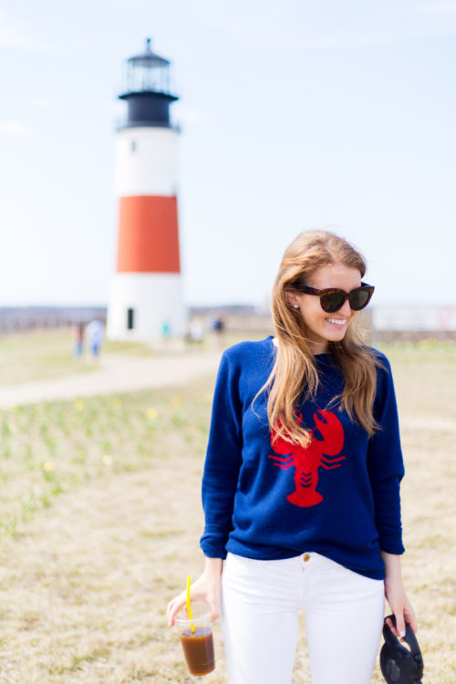 design darling lobster sweater by two bees cashmere