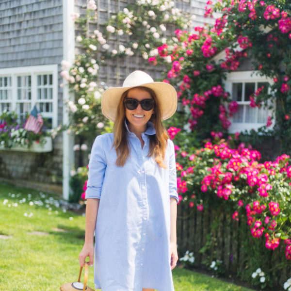 bb dakota cleans up well shirtdress with nantucket lightship basket on design darling