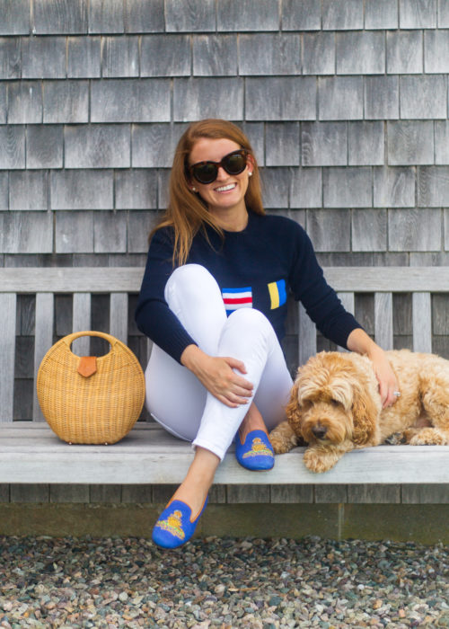 design darling ack nautical flag sweater and stubbs & wootton royal artillery slippers
