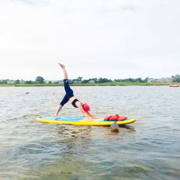 stand up paddleboard yoga paddle nantucket