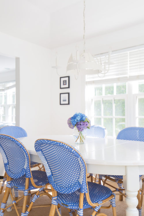 frontgate set of two paris bistro side chairs in capri blue