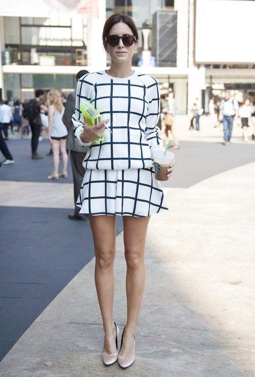 grid print new york fashion week