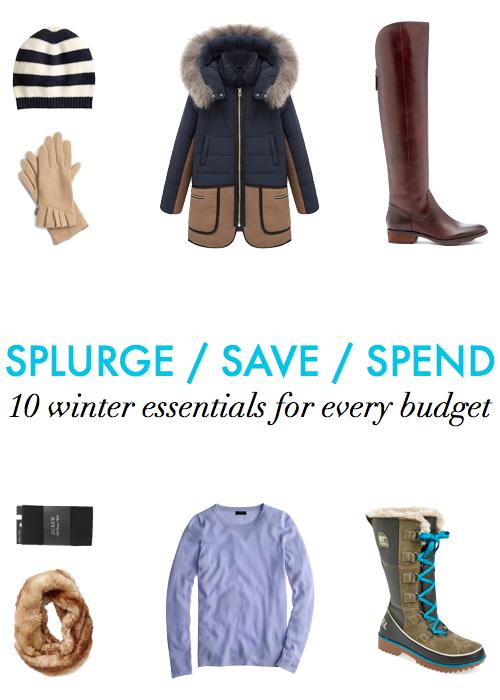 winter essentials for every budget