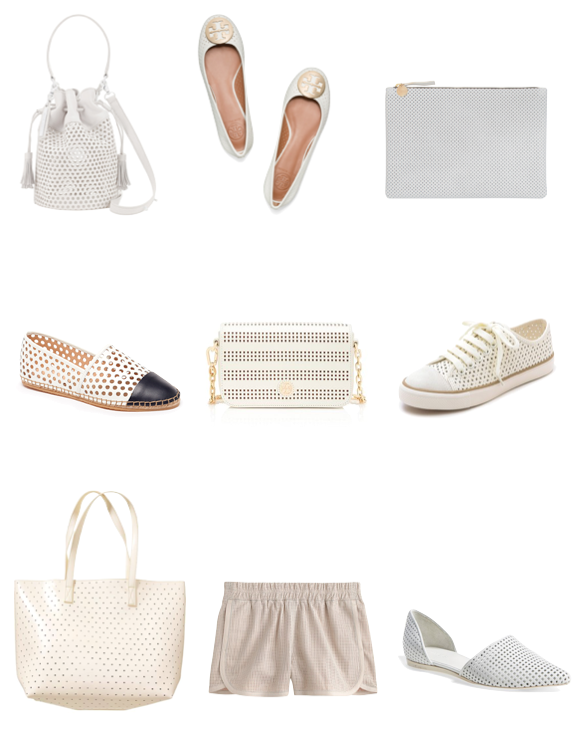 perforated leather bags clutches shoes