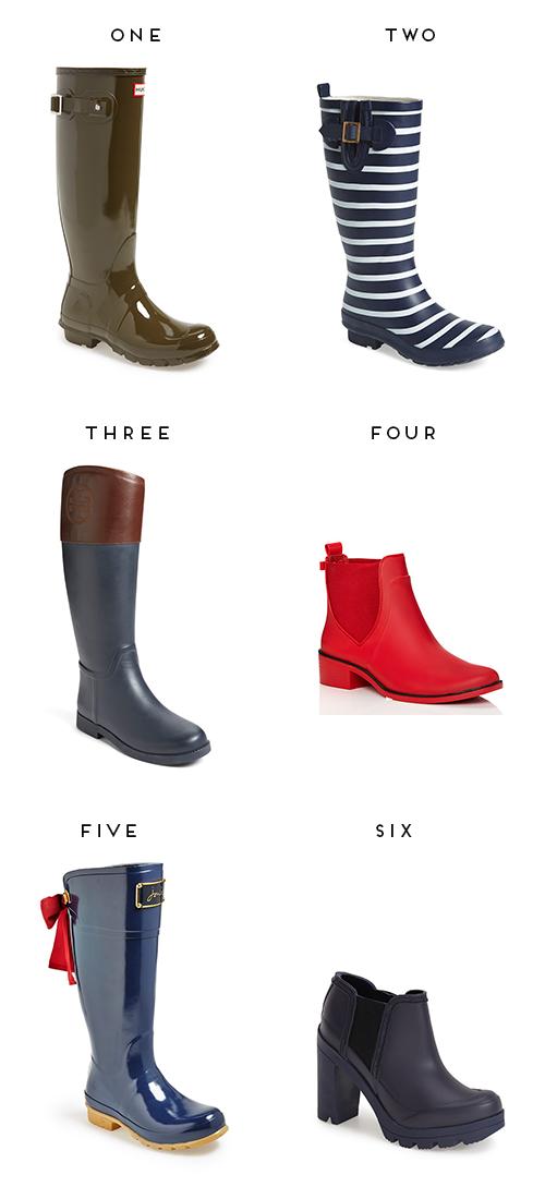 chic rain boots
