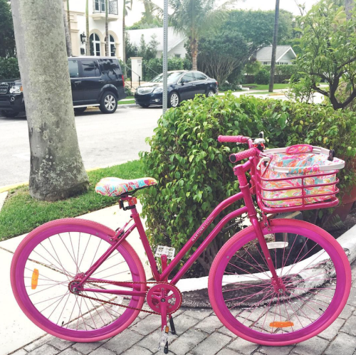 pink lilly bike