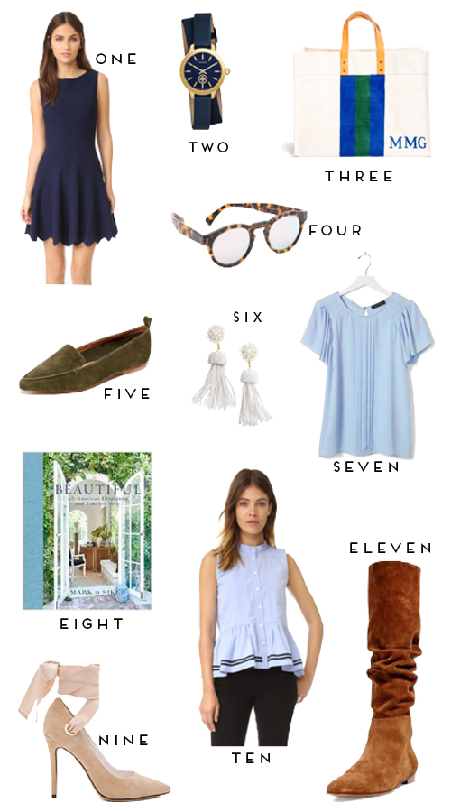 design darling list of preppy staples for late summer and early fall