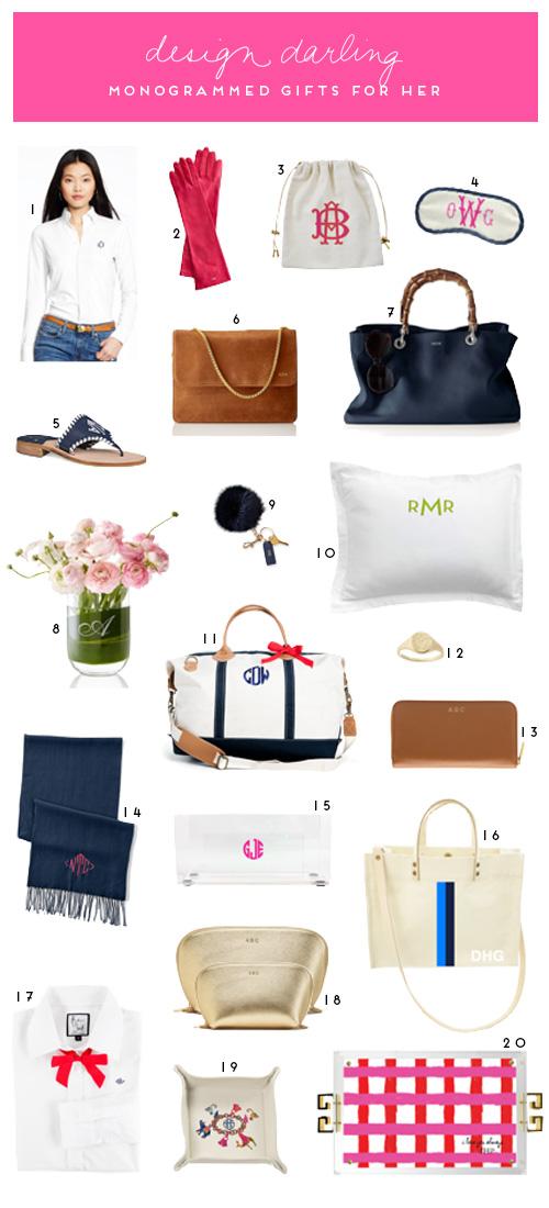 Design Darling Monogrammed Gifts For Her