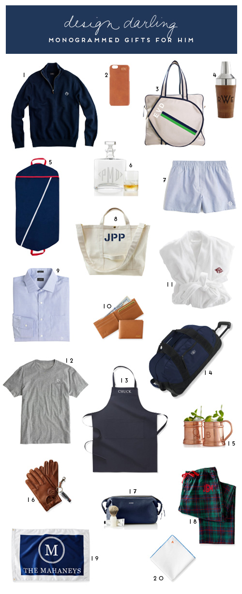 Design Darling Monogrammed Gifts For Him