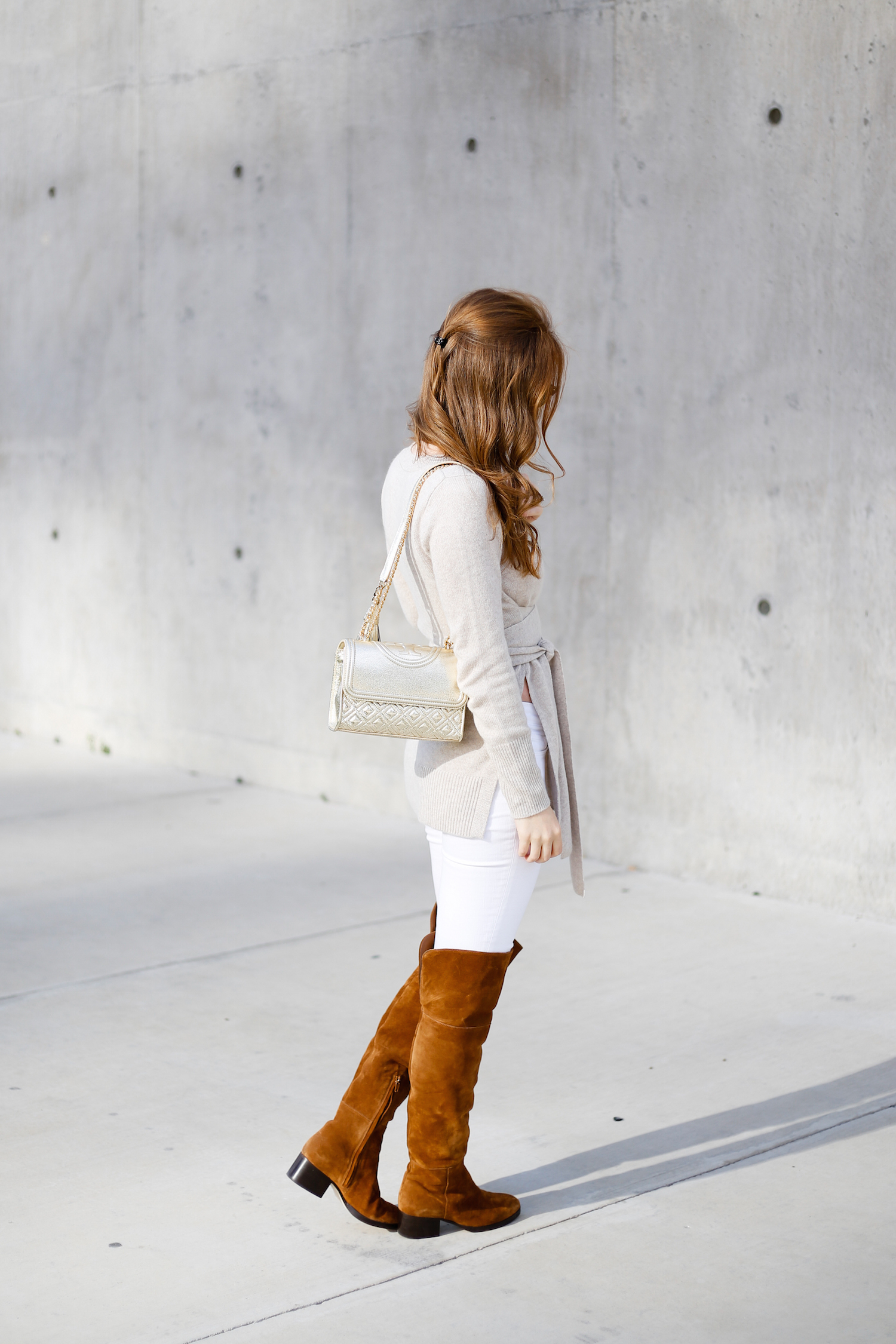 7524b098a tory-burch-small-fleming-bag-and-j-crew-over-the-knee-boots - Design ...