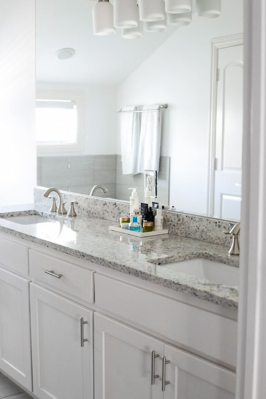 design darling dallas home tour master bathroom