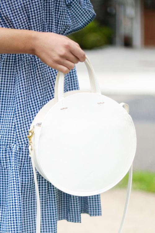 Clare V white circle bag