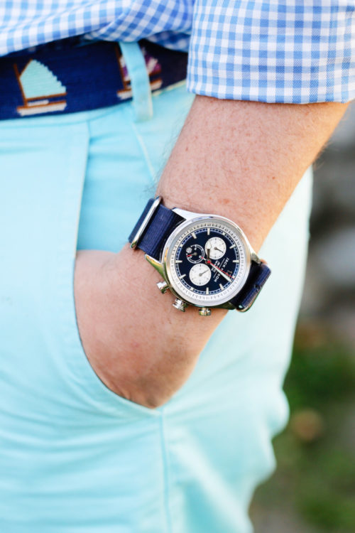 jack mason nautical chronograph nato strap watch design darling