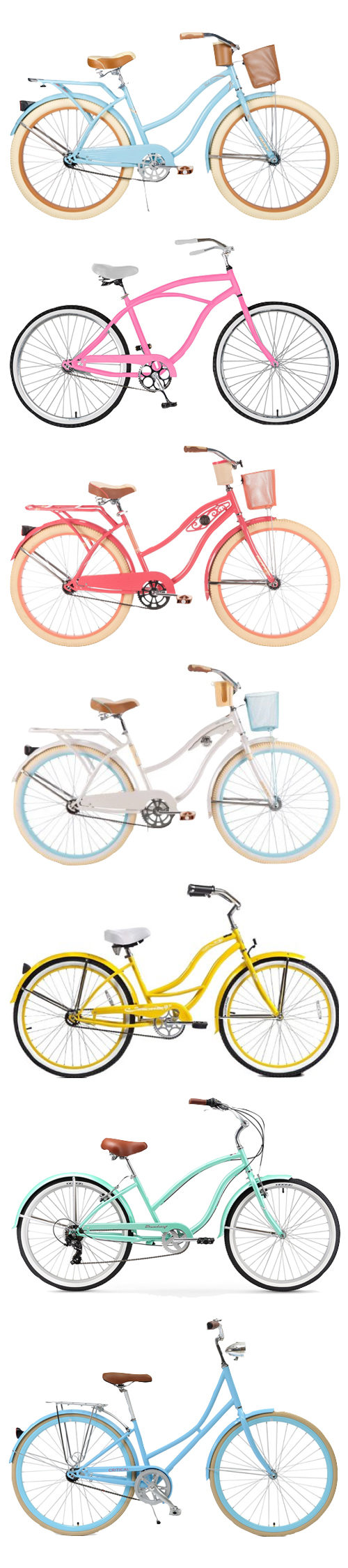 colorful beach cruisers on design darling