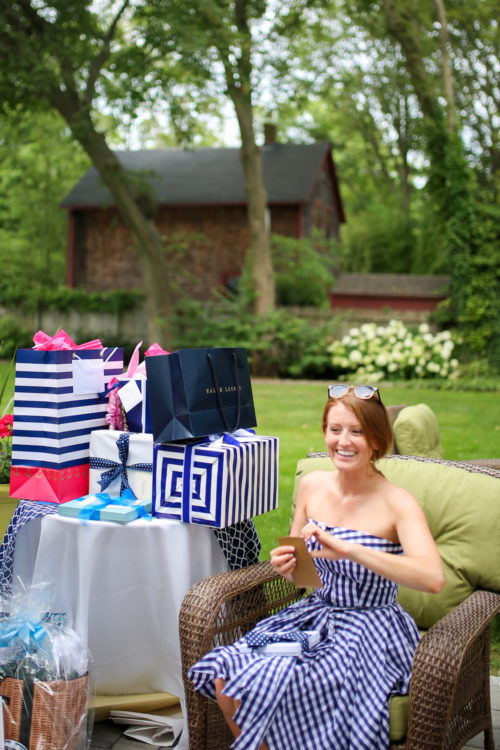 design darling blue and white bridal shower