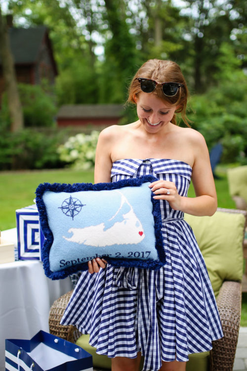 design darling bridal shower nantucket needlepoint pillow