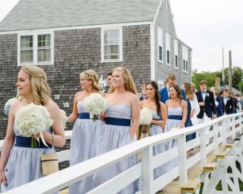 design darling bridesmaids on sconset foot bridge