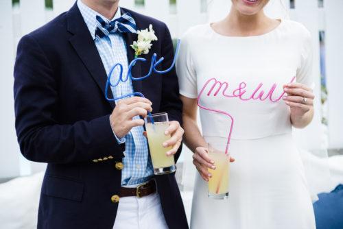 design darling custom krazy straws for wedding cocktail hour