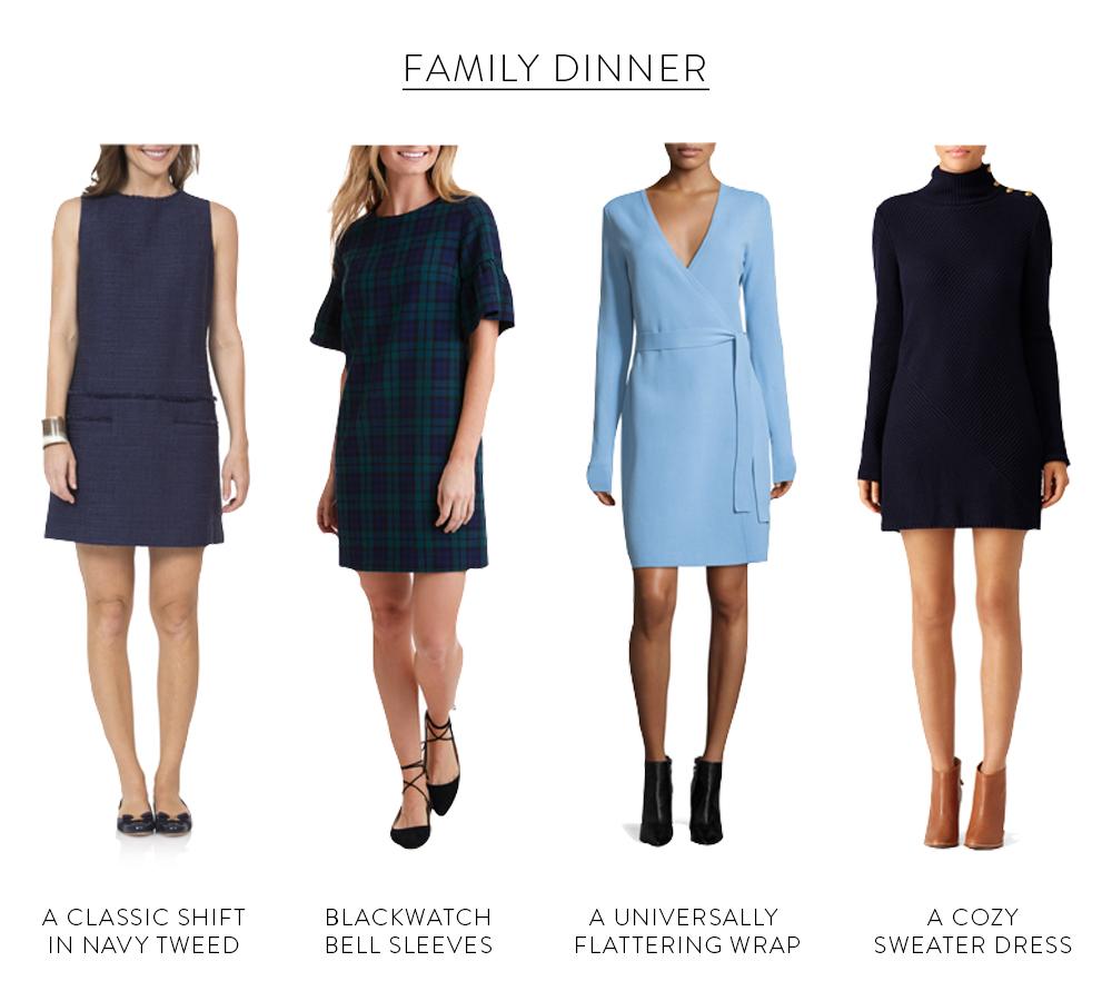 design darling holiday dress guide for family dinner