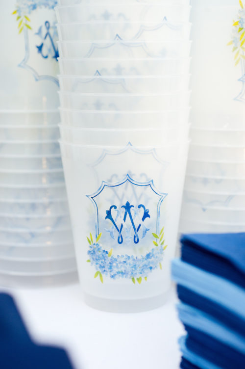 design darling monogrammed wedding cups