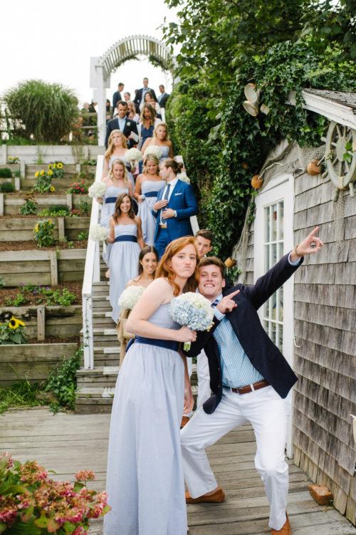 design darling wedding at summer house nantucket