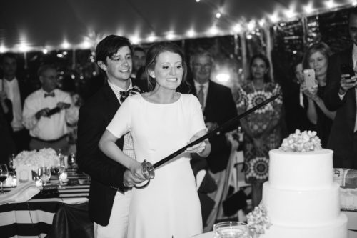 design darling wedding cake with family sword