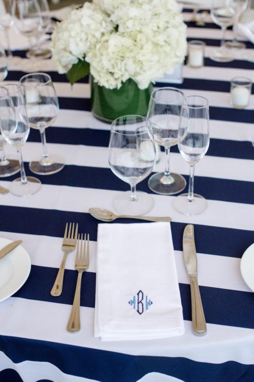design darling wedding monogrammed napkins