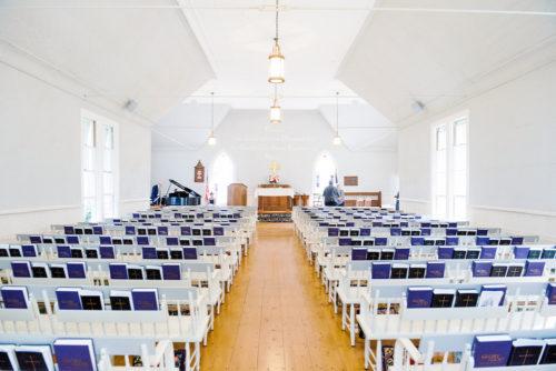 interior of sconset chapel nantucket