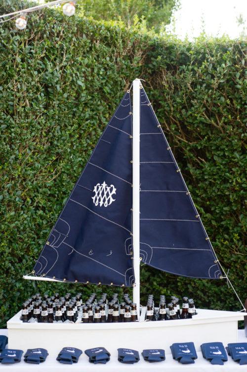 monogrammed beer boat